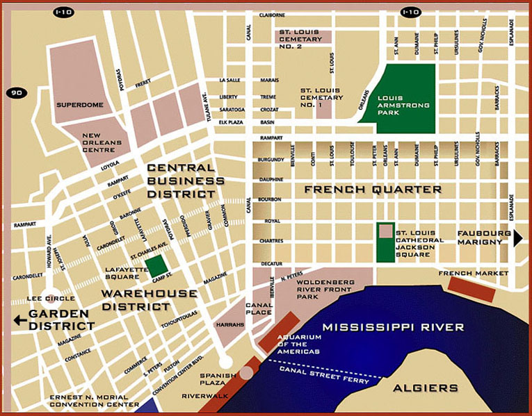 photograph relating to Printable Maps of New Orleans identify Contemporary Orleans Maps versus NewOrleansTopHotels.Com